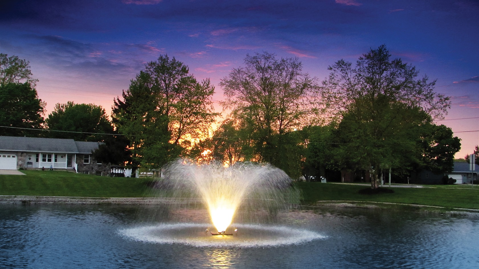 Stainless Steel LED Lighting for Pond Fountains and Display Aerators