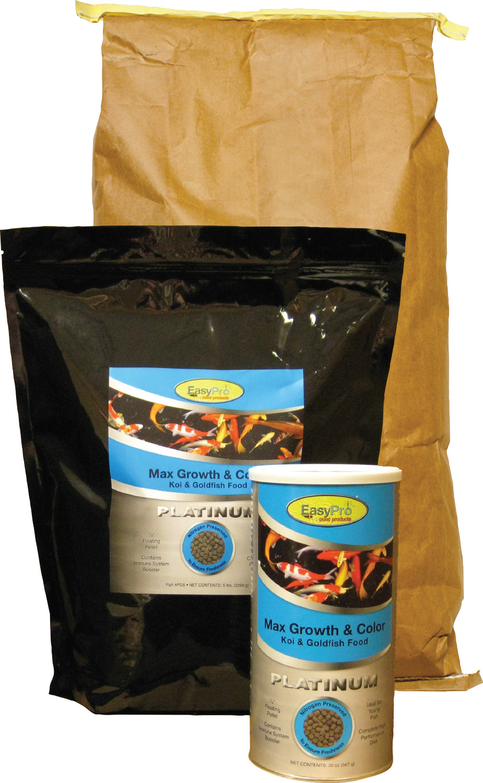 PG33 EasyPro Platinum Koi & Goldfish Food - Max Growth & Color - 33lb bulk  bag